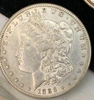1886-S MORGAN SILVER DOLLAR GREAT YEAR LOW MINTAGE SHARP AU COIN