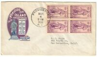 SCOTT 777 FIRST DAY COVER PROVIDENCE R.I. MAY 4 1936 IOOR CO