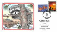 4711  45C  CHRISTMAS 2012 RACCOON COLLINS HAND PAINTED CACHE