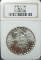 1898-O  MORGAN DOLLAR NGC MINT STATE 64    DOLLAR PRICES ARE GOING UP