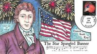 4853  49C  FLAG AND FIREWORKS COLLIN HAND PAINTED CACHET [09