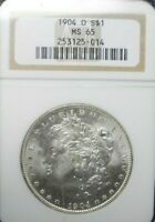 1904-O  MORGAN DOLLAR NGC MINT STATE 65     DOLLAR PRICES ARE GOING UP