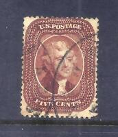 US STAMPS   28   USED   5 CENT JEFFERSON RED BROWN ISSUE   C