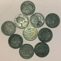 1880 1910CANADA 10 CENTS SILVER COINS LOT OF 11