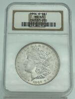 1904-O MORGAN SILVER DOLLAR - NGC MINT STATE 65 - MINT STATE 65