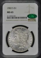 1902-S MORGAN DOLLAR S$1 NGC MINT STATE 63 CAC