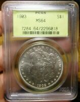1903 MORGAN DOLLAR PCGS MINT STATE 64 OLD GREEN HOLDER