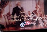 2008 US MINT PRESIDENTIAL DOLLAR $1 COIN PROOF SET WITH COA