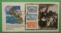 DR WHO 1992 FDC VOYAGES OF COLUMBUS 1ST SIGHTING OF LAND S/S