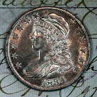 1834   CHOICE AU  CAPPED BUST HALF DOLLAR   FROM ORIGINAL COLLECTION