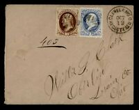 1874 CLEVELAND OH REGISTERED 161 156 TO OBERLIN OH