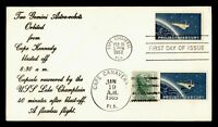 1962 FDC SPACE PROJECT MERCURY GEMINI RECOVERY DUAL CANCEL
