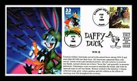 DAFFY DUCK WORLD WAR II FDC COMBO S&T LIMITED EDITION HAND M