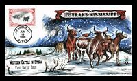 TRANS MISSISSIPPI REISSUE WESTERN CATTLE FDC COLLINS HAND CO