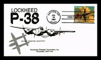 US COVER MUSTANG CLASSIC AMERICAN AIRCRAFT FDC LOCKHEED P 38