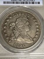 1796 DRAPED BUST DOLLAR PCGS TOOLED XF DETAIL LOW MINTAGE  E