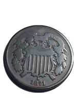 1871 TWO CENT PIECE BETTER DATE COLLECTOR COPPER VERY GOOD C