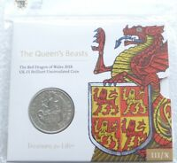 2018 ROYAL MINT QUEENS BEASTS RED DRAGON OF WALES 5 FIVE POU