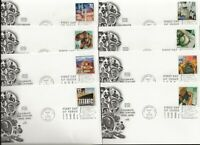 FIFTEEN  SET  2000 CACHETED FIRST DAY COVERS    20TH CENT. D
