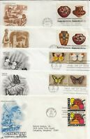 FIFTEEN NICE 1977 CACHETED FIRST DAY COVERS    SKILLED HANDS