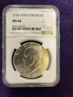 1776-1976 S  SILVER EISENHOWER DOLLAR NGC MINT STATE 66
