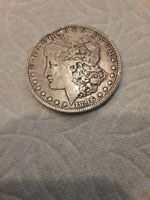 1896 - O MORGAN SILVER DOLLAR F - SEE PICTURE 1034A