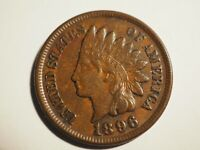 1896     INDIAN CENT    EXTRA  FINE     W 217