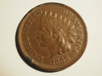 1866   INDIAN CENT      EXTRA FINE      W 221