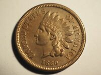 1860   CIVIL WAR     POINTED BUST     INDIAN  CENT     FINE   W 233