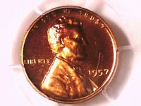 1957 PROOF LINCOLN WHEAT CENT PENNY PCGS PR 67 RD CAM 16062714