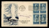DR WHO 1934 FDC NATIONAL PARK SERIES YELLOWSTONE CACHET BLOC