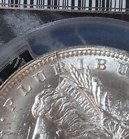 1888-O DIE BREAK R LDS VAM-1A 1A3 PCGS MINT STATE 63 MORGAN DOLLAR CLASHED E  TOP 100 WOW