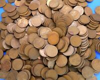 1909 1958 LOT OF 500 LINCOLN WHEAT PENNIES COPPER US COINS M