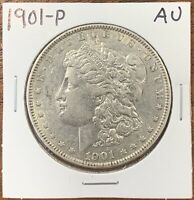 1901-P MORGAN SILVER DOLLAR ABOUT UNCIRCULATED AUBETTER DATE