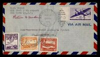 DR WHO 1946 NY FIRST FLIGHT PAA TEST TO ST JOHNS ANTIGUA  G4