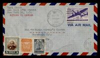 DR WHO 1946 NY FIRST FLIGHT PAA TEST TO GUATEMALA CITY GUATE