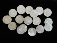 MIXED ROLL OF UNCIRCULATED MEXICO ONE 1 SILVER PESO 1957 TO