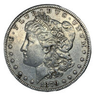 1879 MORGAN SILVER DOLLAR - VF/EXTRA FINE  DETAIL - OLD CLEANING