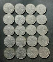 OLD CANADA COIN LOT   1922 1936  KING GEORGE V NICKELS   20