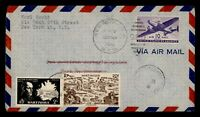 DR WHO 1946 NY FIRST FLIGHT PAA TEST TO FRENCH MARTINIQUE FO