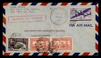 DR WHO 1946 NY FIRST FLIGHT PAA TEST TO TO PORT OF SPAIN TRI