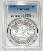 1879-O MORGAN DOLLAR PCGS MINT STATE 62 GREAT SATIN LUSTER BRILLIANT UNCIRCULATED
