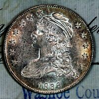1836   CHOICE UNC MS CAPPED BUST HALF DOLLAR   FROM ORIGIN