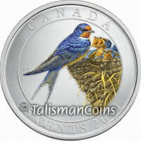 2011 BARN SWALLOW COLORFUL BIRDS OF CANADA 25 CENTS COLOR QUARTER IN FULL OGP