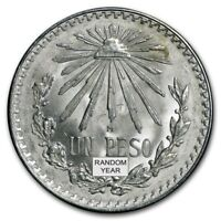 1922 1945 MEXICAN XF  .720 SILVER UN PESO LARGE CAP AND RAY RANDOM YRS. COIN