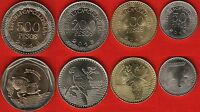 COLOMBIA SET OF 4 COINS: 50   500 PESOS 2012 2013 UNC