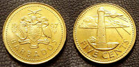 BARBADOS 1997 5 CENTS UNCIRCULATED  KM11