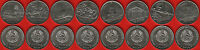 TRANSNISTRIA SET OF 8 COINS: 1 ROUBLE 2014