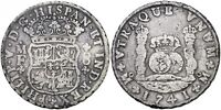 SPAIN  COLONIAL SILVER 8 REALES  KING  PHILIP V  1741 MEXICO M.F.
