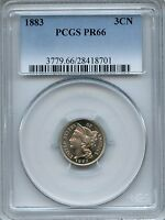 1883 THREE CENT NICKEL PCGS PR66   PROOF 3CN 28418701